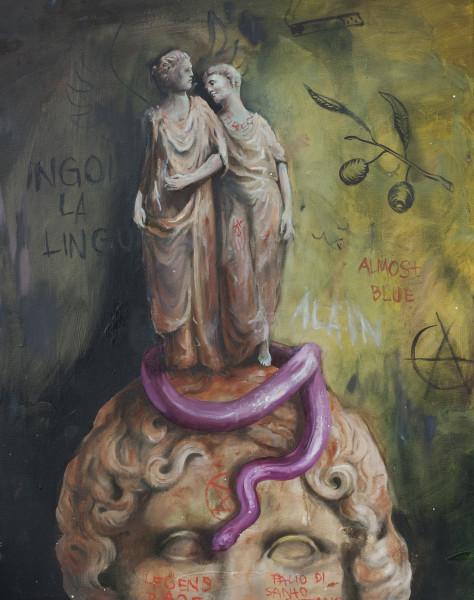 Philip Mueller Ingoi la Lingua, 2020 Oil on canvas 90 x 70 cm 35 3/8 x 27 1/2 in
