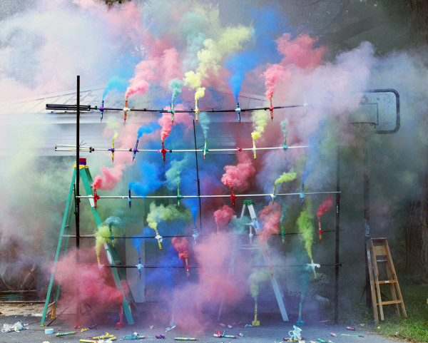 Olaf Breuning Smoke Bombs #2, 2011 C-print 122 x 152 cm 48 1/8 x 59 7/8 in Edition of 6 + 2 AP