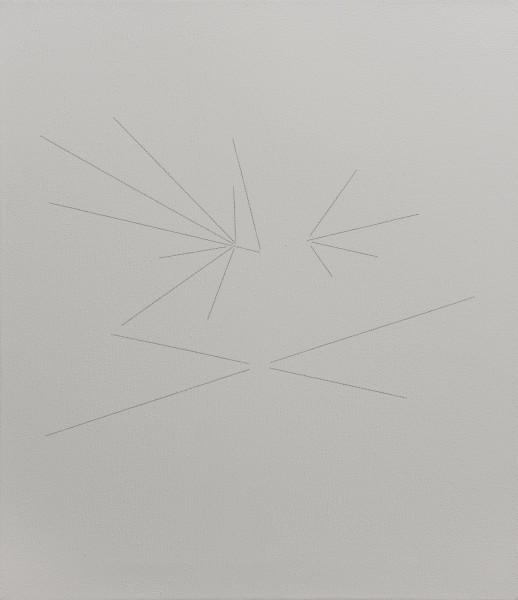 ZIERVOGEL Europa, 2013 Ink on gesso primed canvas 50 x 60 cm 19 3/4 x 23 5/8 in