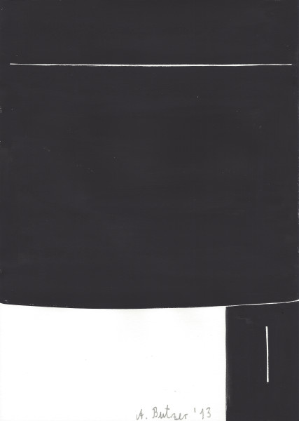 André Butzer Untitled #007, 2013 Tempera on paper 29.5 x 21 cm 11 5/8 x 8 1/4 in