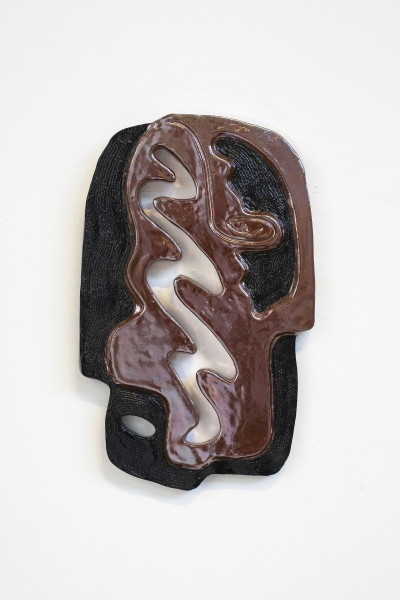 Monika Grabuschnigg List of figures, XX1, 2018 Glazed earthenware 37.5 x 23.5 x 2.5 cm 14 3/4 x 9 1/4 x 1 in