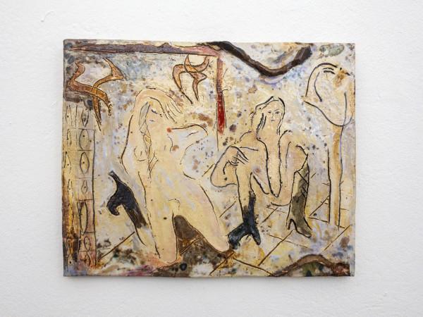 Monika Grabuschnigg Slashing Windows, 2021 Glazed ceramic 29 x 36.5 x 2 cm 11 3/8 x 14 3/8 x 3/4 in