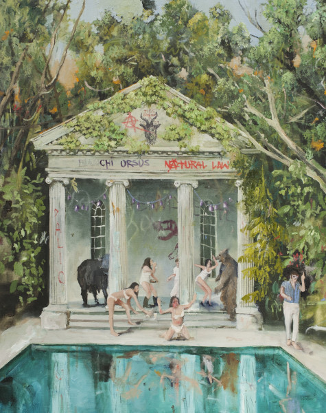 Philip Mueller Dogdays at Santo Stefano, 2020 Oil on canvas 100 x 80 cm 39 3/8 x 31 1/2 in