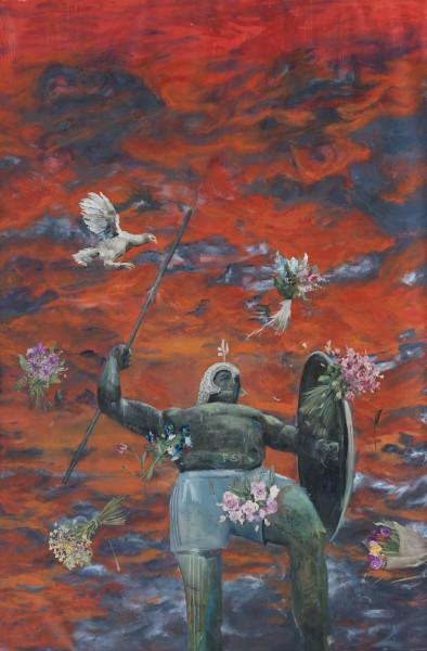 Philip Mueller Kronos comes across Santo Stefano, 2020 Oil on canvas 300 x 200 cm 118 1/8 x 78 3/4 in