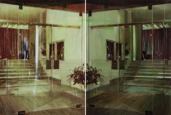 Gil Heitor Cortesāo Hall of Mirrors (Diptych), 2015 Oil on Plexiglas 135 x 200 cm 53 1/8 x 78 3/4 in