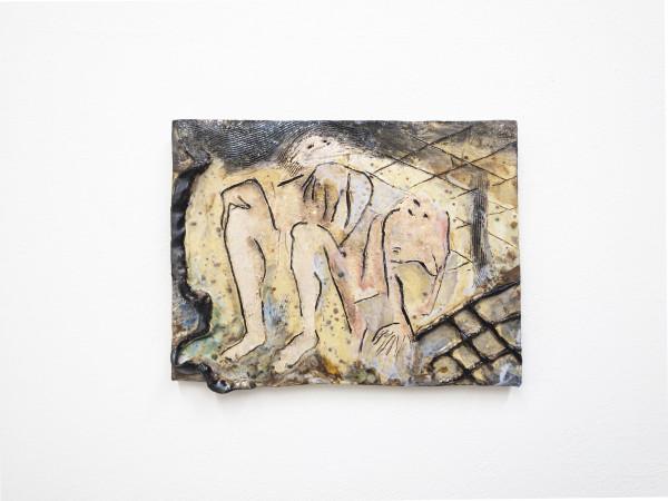 Monika Grabuschnigg 4am talk, 2021 Glazed ceramic 23 x 29 x 3 cm 9 1/8 x 11 3/8 x 1 1/8 in