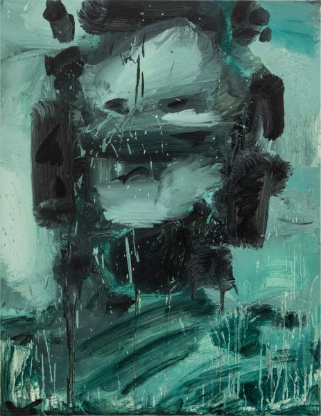 Amir Khojasteh Sad Fighter #1, 2020 Oil on canvas 83 x 64 cm 32 5/8 x 25 1/4 in