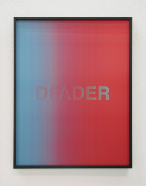 Anahita Razmi, LEADERS/DEALERS (Light Blue/Red), 2018