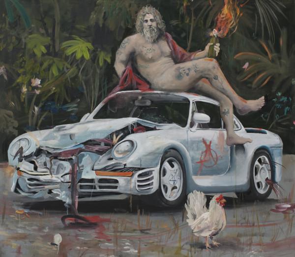 Philip Mueller Autodromo di Castello d'oro #3, 2020 Oil on canvas 160 x 180 cm 63 x 70 7/8 in