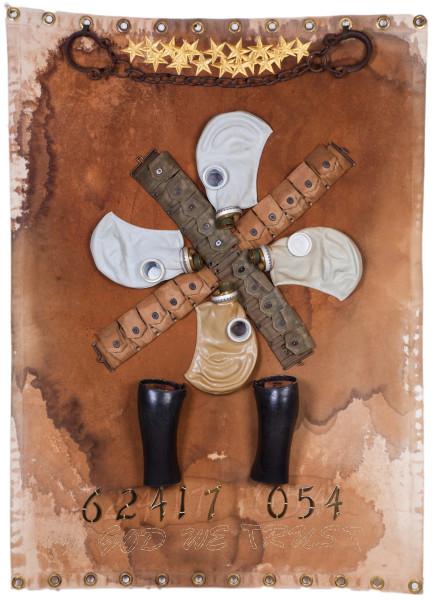 Sara Rahbar In God we trust (Confessions), 2011 Mixed media 165 x 119 cm 65 x 47 in