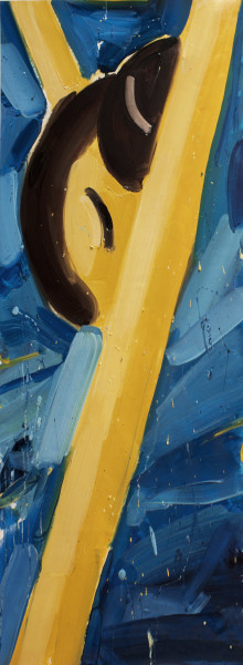Amir Khojasteh Ascension #2, 2018 Oil on canvas 100 x 36 cm 39 3/8 x 14 1/8 in