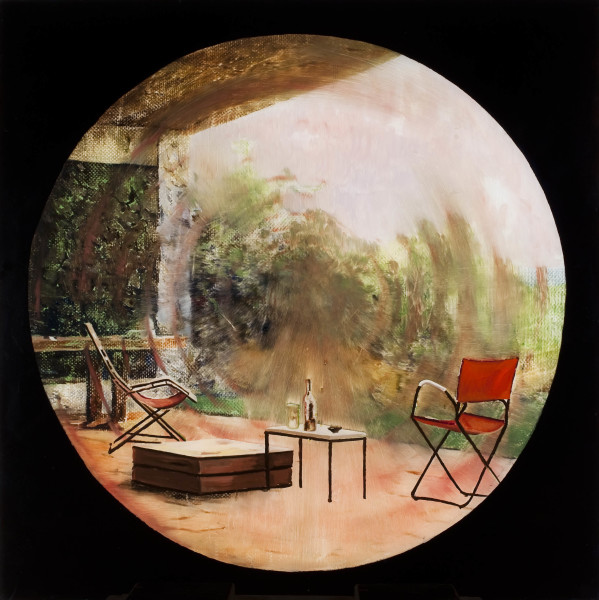 Gil Heitor Cortesāo Spiral, 2011 Oil on Plexiglas 84 x 84 cm 33 1/8 x 33 1/8 in