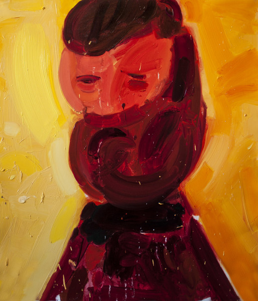 Amir Khojasteh A Man on The Fire, 2018 Oil on canvas 70 x 60 cm 27 1/2 x 23 5/8 in
