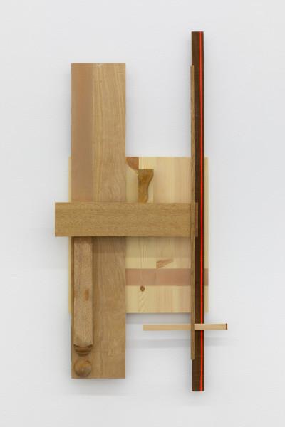 Sarah Almehairi Building Blocks 2, Series 4, 2020 Acrylic on wood 103.2 x 45.3 x 8 cm 40 5/8 x 17 7/8 x 3 1/8 in