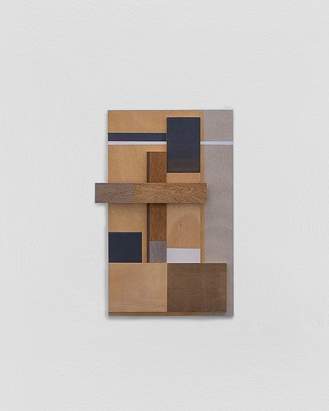 Sarah Almehairi Building Blocks 1, Series 1, 2018 Acrylic on wood 61 x 37 x 5.8 cm 24 1/8 x 14 5/8 x 2 1/4 in