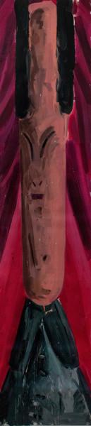 Amir Khojasteh The Master #2, 2018 Oil on canvas 182 x 41 cm 71 5/8 x 16 1/8 in