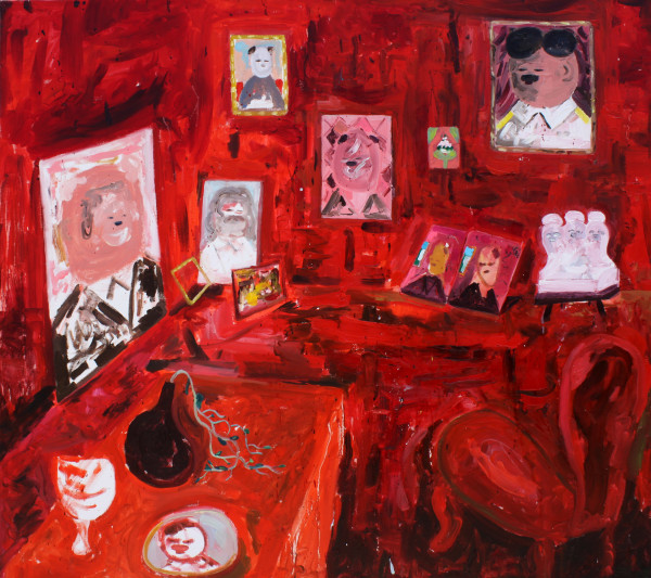 Amir Khojasteh Red Room, 2018 Oil on canvas 89 x 80 cm 35 1/8 x 31 1/2 in
