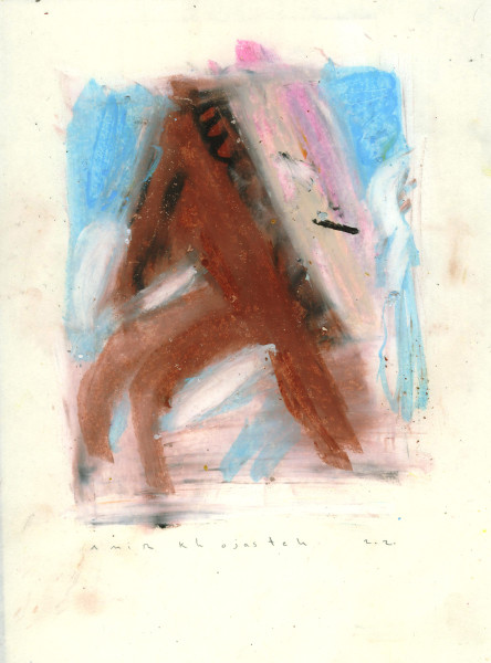 Amir Khojasteh Try to catch the moon #4 (Framed), 2020 Oil and pastel on paper 27 x 20 cm 10 5/8 x 7 7/8 in