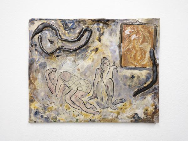 Monika Grabuschnigg Timeworn dreams, 2020 Glazed ceramic 30 x 37 x 2 cm 11 3/4 x 14 5/8 x 3/4 in