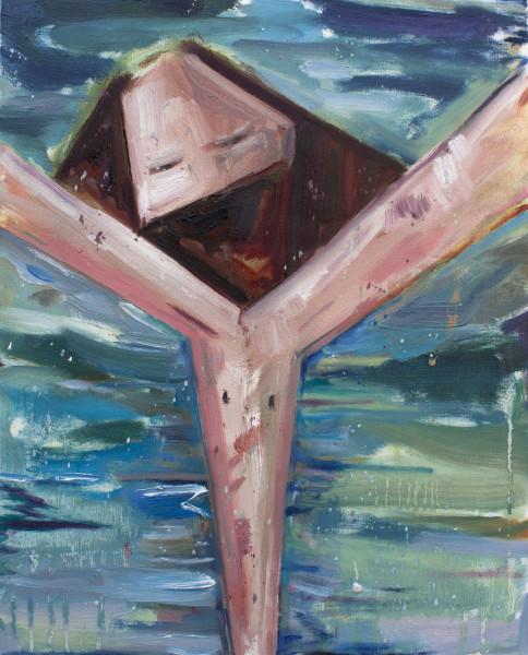 Amir Khojasteh  Despair, 2018  Oil on canvas  35 x 28 cm  13 3/4 x 11 1/8 in