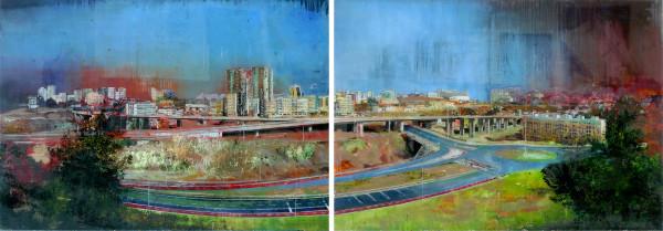 Gil Heitor Cortesão Panorama (diptych), 2010 Oil on plexiglas 120 x 170 cm 47 1/4 x 66 7/8 in