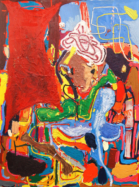 André Butzer Aladin and the magic oil lamp, 2010 Oil on canvas 320 x 230 cm 126 x 90 1/2 in