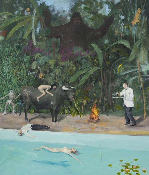 Philip Mueller Bonjour Tristesse, 2020 Oil on canvas 165 x 140 cm 65 x 55 1/8 in