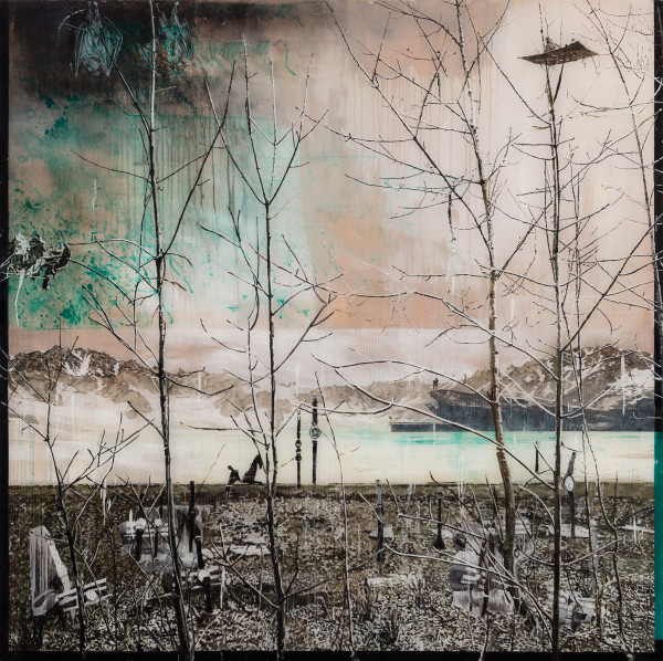 Gil Heitor Cortesāo Time O'Clock, 2015 Oil on Plexiglas 150 x 150 cm 59 1/8 x 59 1/8 in