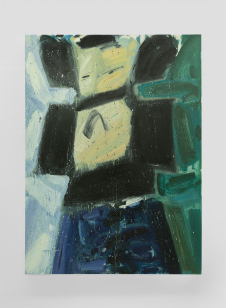 Amir Khojasteh Sad Fighter N10, 2021 Oil on canvas 190 x 140 cm 74 3/4 x 55 1/8 in