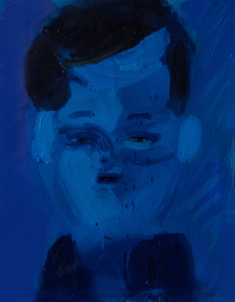 Amir Khojasteh Blue President, 2019 Oil on canvas 30 x 24 cm 11 3/4 x 9 1/2 in