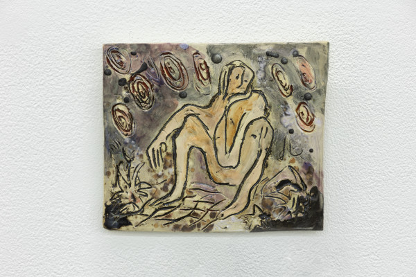 Monika Grabuschnigg Dreambirth, 2020 Glazed ceramic 20 x 23.5 x 1.5 cm 7 7/8 x 9 1/4 x 5/8 in