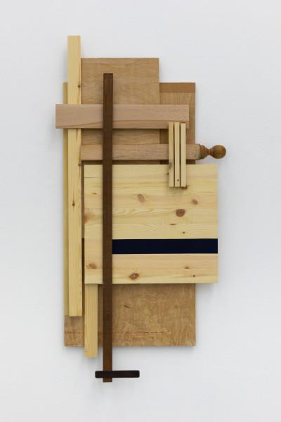Sarah Almehairi Building Blocks 3, Series 4, 2020 Acrylic on wood 116.3 x 57.5 x 6.4 cm 45 3/4 x 22 5/8 x 2 1/2 in