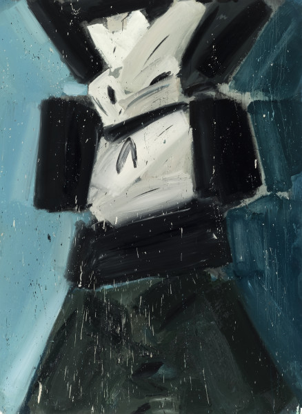 Amir Khojasteh Sad Fighter #8, 2020 Oil on canvas 190 x 140 cm 74 3/4 x 55 1/8 in