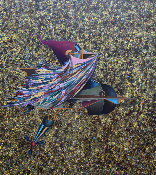 Bernhard Buhmann Night Rider (Gustav), 2012 Oil on canvas 180 x 160 cm 70 7/8 x 63 in
