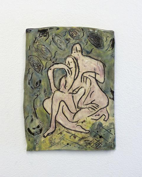 Monika Grabuschnigg Silver Lining, 2021 Glazed ceramic 25.5 x 19 x 1 cm 10 1/8 x 7 1/2 x 3/8 in
