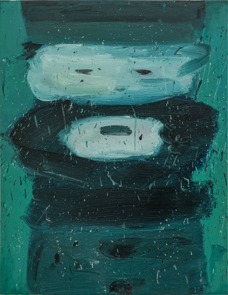 Amir Khojasteh Sad Fighter #3, 2020 Oil on canvas 83 x 64 cm 32 5/8 x 25 1/4 in