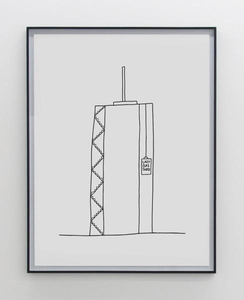 Olaf Breuning Lazy Bastard, 2016 Pen on paper 150 x 112 cm 59 1/8 x 44 1/8 in