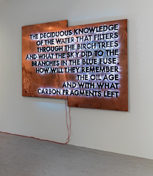 Robert Montgomery, The Deciduous Knowledge, 2016