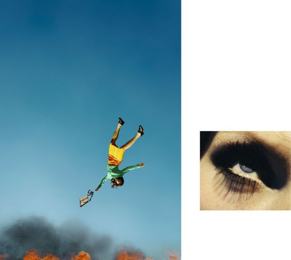 Alex Prager, 10:58 am Bunker Hill and Eye #7 (Suicide) (Diptych), 2012