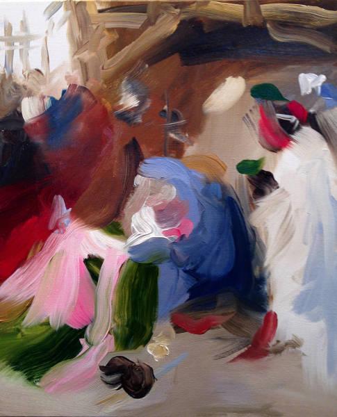 Elise Ansel, Blue I, (after Bruegel), 2014