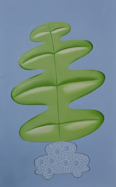 Peter Harrington, Bubble Car and Fern Leaf, 2015