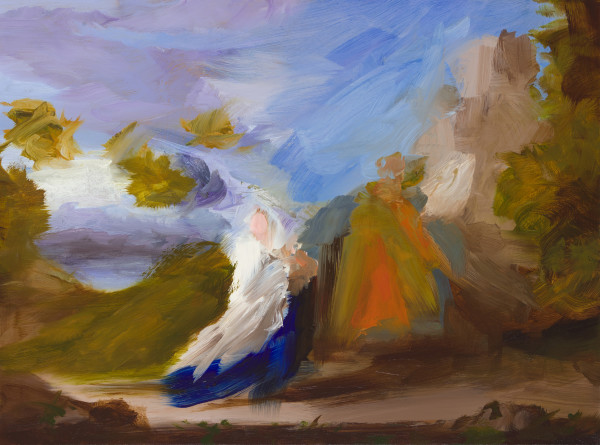 Elise Ansel, Flight I (after Poussin), 2015