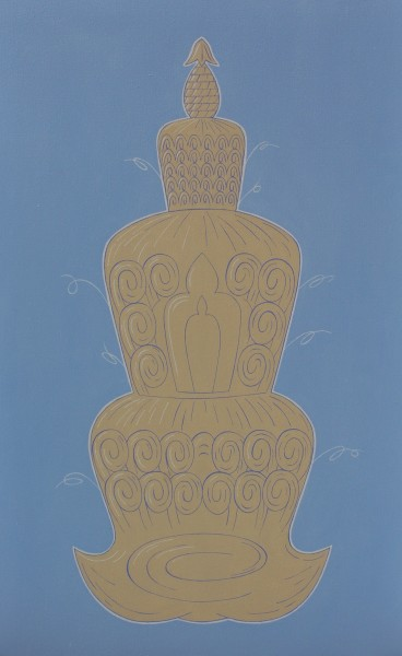 Peter Harrington, Tibetan Stupa Hairdo, 2015