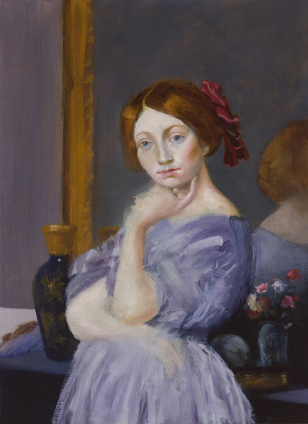Elise Ansel, The Red Ribbon (after Ingres), 2015