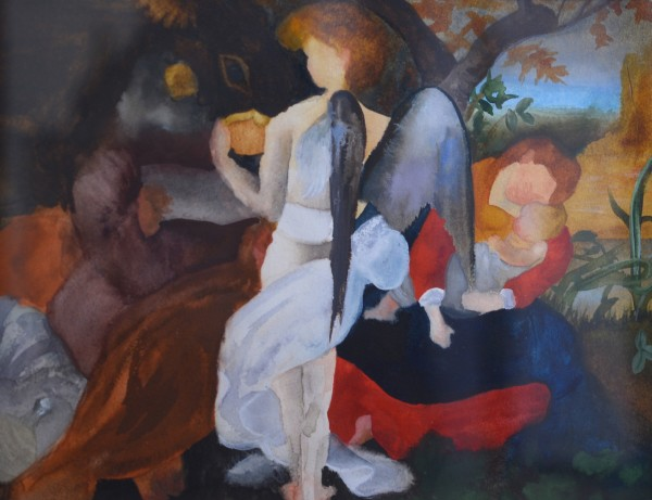 Elise Ansel, Study I for Rest on the Flight Into Egypt (after Caravaggio), 2014