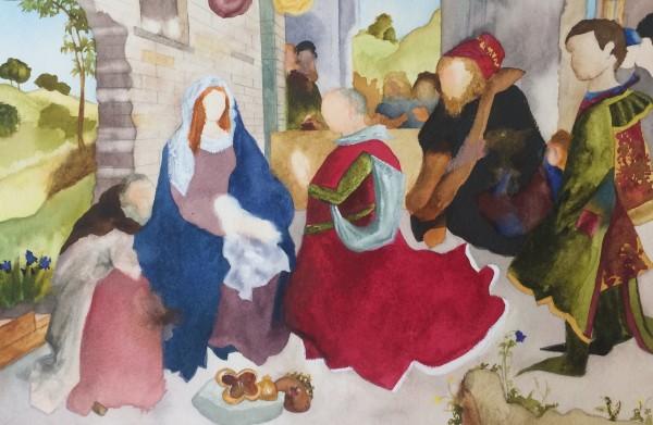 Elise Ansel, Study I for Monforte, (after Hugo van der Goes), 2014