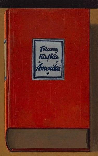 <span class=%22title%22>Book Painting No. 27 (Franz Kafka, Amerika, Kurt Wolff Verlag, Muenchen, 1927)<span class=%22title_comma%22>, </span></span><span class=%22year%22>2019</span>