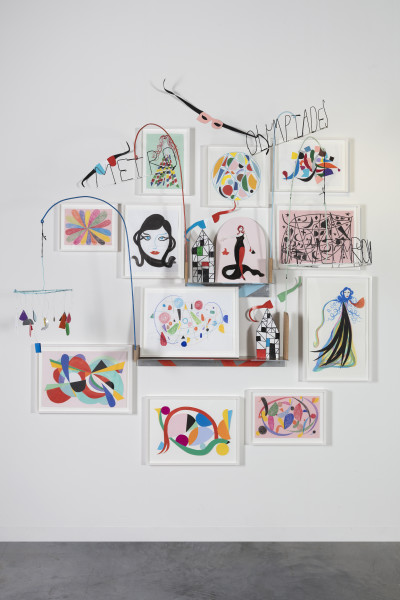 """<span class=%22title%22>She kept a collection of small drawings, sculptures and paintings on the wall opposite her bed. """"These were made for me"""" she felt.<span class=%22title_comma%22>, </span></span><span class=%22year%22>2018</span>"""