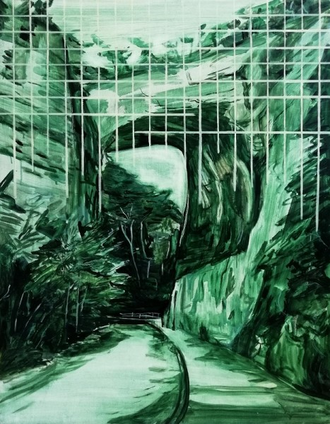 Lucy Smallbone, Green Grid, 2018