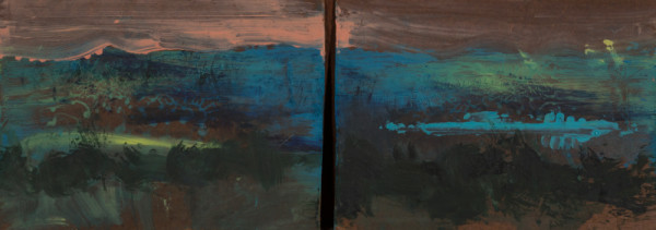 Dénes Maróti, Landscape of Balaton at Evening, 2017